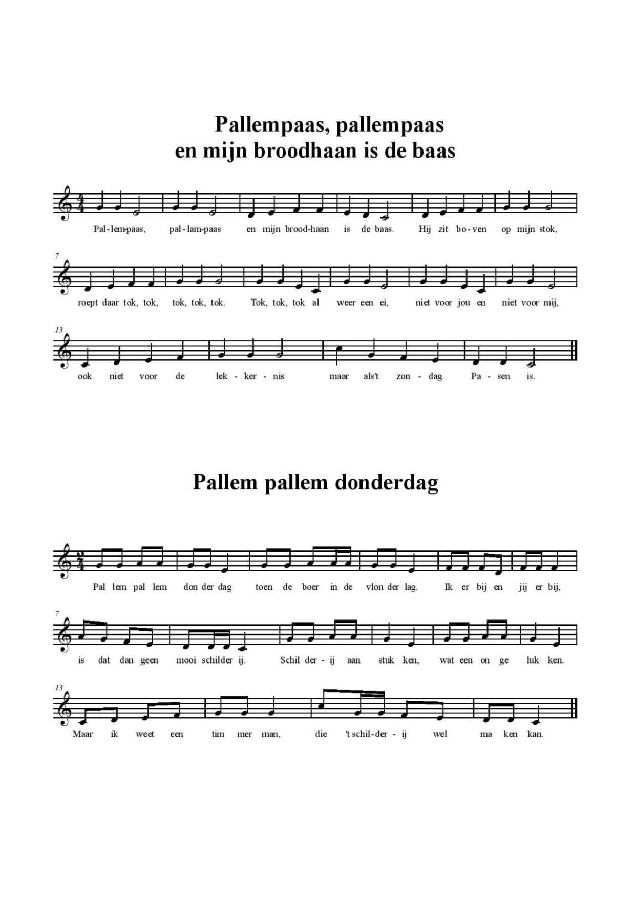 palmpasen liedjes 3
