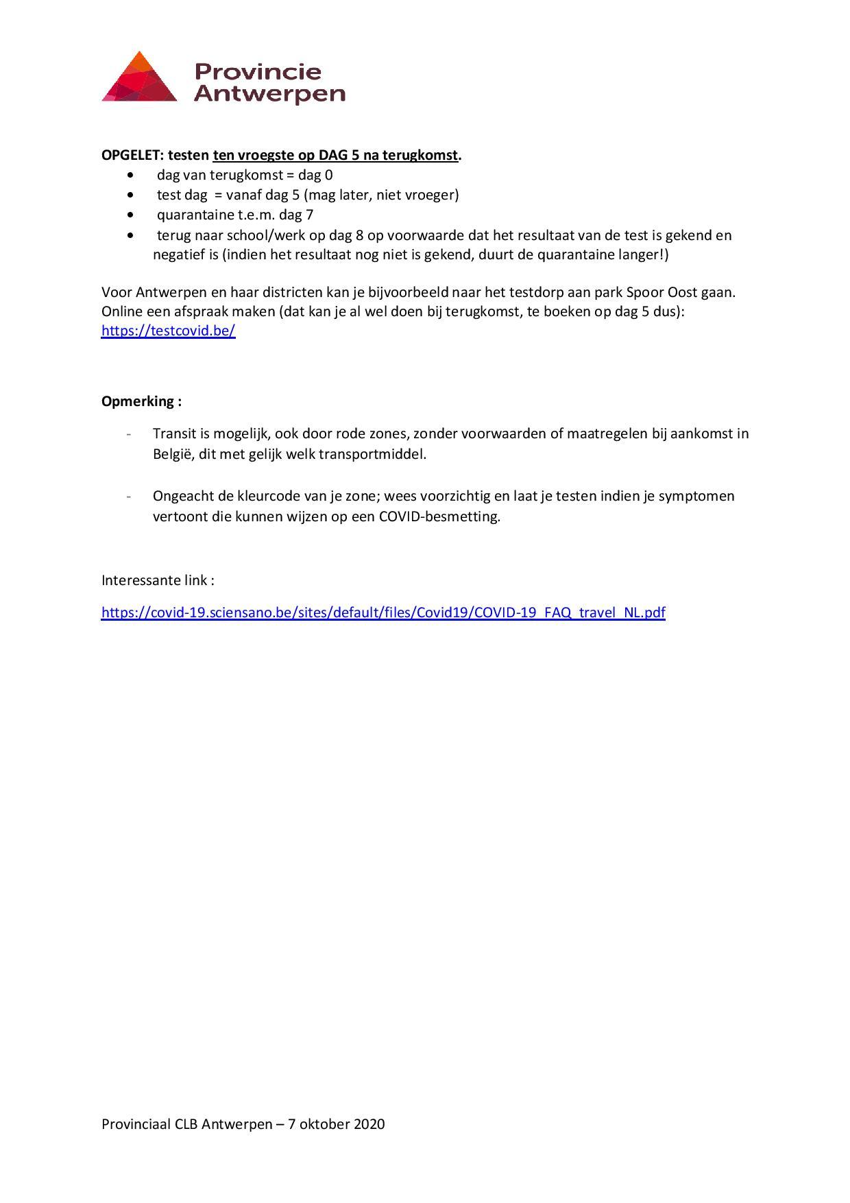 Reizen en de te volgen procedure page 002