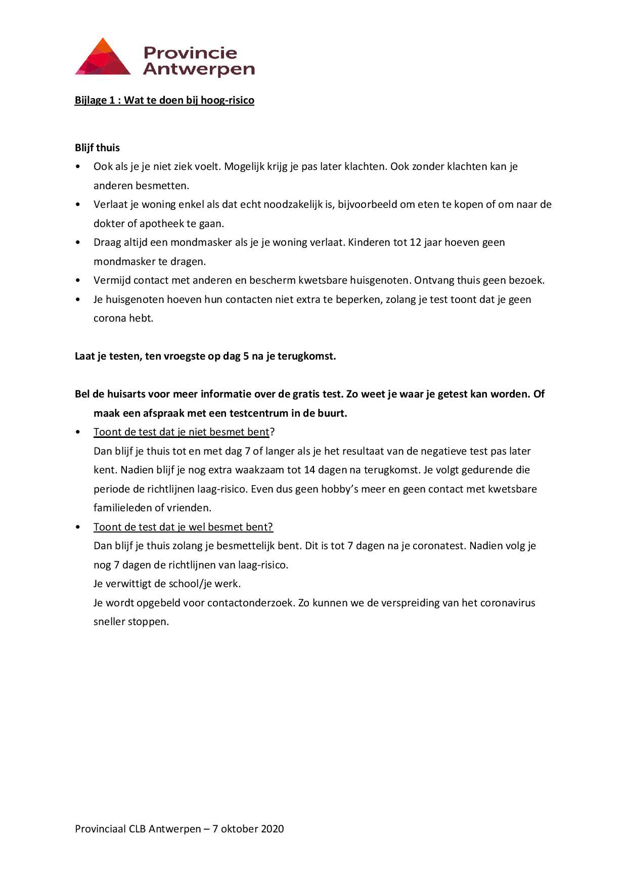 Reizen en de te volgen procedure page 004